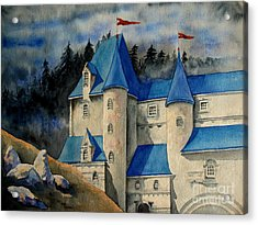 Castle In The Black Forest Acrylic Print by Ranjini Kandasamy