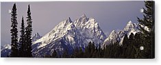 Cathedral Group Grand Teton National Acrylic Print by Panoramic Images