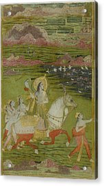 Chand Bibi Hawking Acrylic Print by Celestial Images