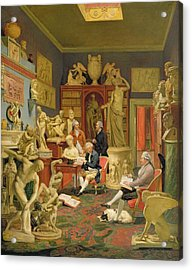 Charles Townley And His Friends Acrylic Print by Johann Zoffany