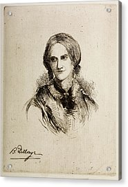 Charlotte Bronte Acrylic Print by British Library