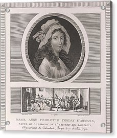 Charlotte Corday Acrylic Print by British Library