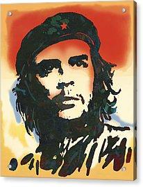 Che Guevara Stylised Modern Drawing Art Sketch Acrylic Print by Kim Wang