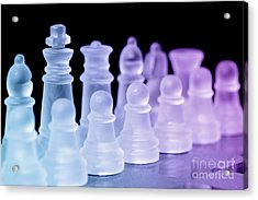 Chess Pieces Acrylic Print by Amanda And Christopher Elwell