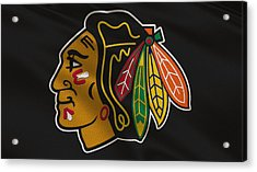 Chicago Blackhawks Uniform Acrylic Print by Joe Hamilton