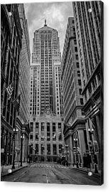 Chicago Board Of Trade Acrylic Print by Mike Burgquist