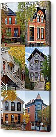 Chicago Historic Old Town Triangle Acrylic Print by Christine Till