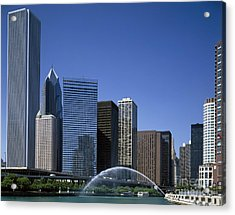 Chicago Skyline Acrylic Print by Rafael Macia