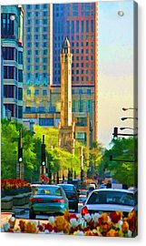 Chicago Water Tower Beacon Acrylic Print by Christopher Arndt