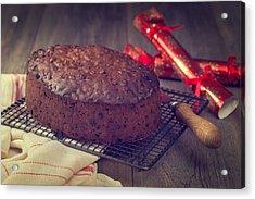 Christmas Cake Acrylic Print by Amanda Elwell