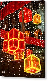 Christmas Decorations Acrylic Print by Gaspar Avila