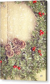 Christmas Garland Acrylic Print by Amanda And Christopher Elwell
