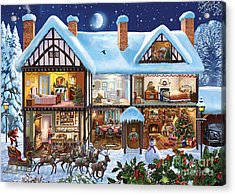 Christmas House Acrylic Print by Steve Crisp