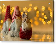 Christmas Is Coming Acrylic Print by Aldona Pivoriene