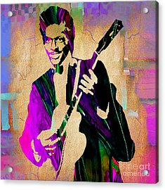 Chuck Berry Collection Acrylic Print by Marvin Blaine