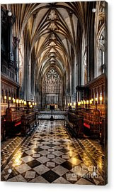 Church Interior Acrylic Print by Adrian Evans