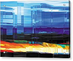City Within Acrylic Print by The Art of Marsha Charlebois