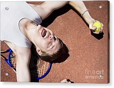 Clay Court Champion Acrylic Print by Jorgo Photography - Wall Art Gallery