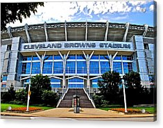 Cleveland Browns Stadium Acrylic Print by Frozen in Time Fine Art Photography
