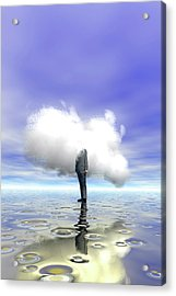 Cloud Computing Acrylic Print by Carol & Mike Werner