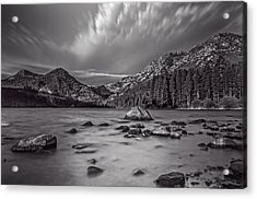 Cloud Movement Over Emerald Bay Acrylic Print by Marc Crumpler