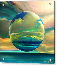 Clouding The Poets Eye Acrylic Print by Robin Moline