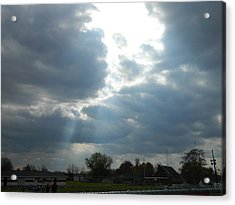 Cloudy Sky Acrylic Print by Linda Brown