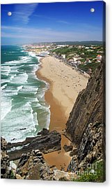 Coastal Cliffs Acrylic Print by Carlos Caetano