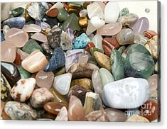 Collection Of Semiprecious Gemstones Acrylic Print by PhotoStock-Israel