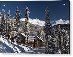 Colorado Mountain House Acrylic Print by Michael J Bauer