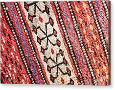Colorful Rug Acrylic Print by Tom Gowanlock