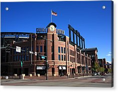 Coors Field - Colorado Rockies Acrylic Print by Frank Romeo