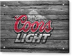 Coors Light Acrylic Print by Joe Hamilton