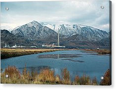 Copper Smelting Plant Acrylic Print by Jim West