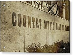 Country Music Hall Of Fame Acrylic Print by Dan Sproul