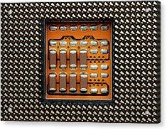 Cpu Socket Acrylic Print by Antonio Romero