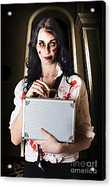 Creepy Late Businesswoman Dissolving Dead Business Acrylic Print by Jorgo Photography - Wall Art Gallery