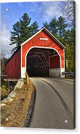 Cresson Covered Bridge Acrylic Print by Joann Vitali