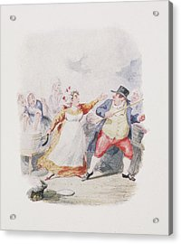 Cruikshank's Water Colours Acrylic Print by British Library