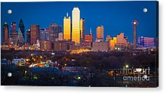 Dallas Skyline Acrylic Print by Inge Johnsson