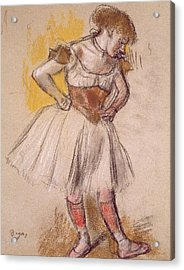 Dancer Acrylic Print by Edgar Degas