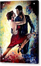 Dancing In The Moonlight Acrylic Print by Michael Grubb