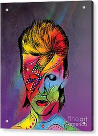David Bowie Acrylic Print by Mark Ashkenazi