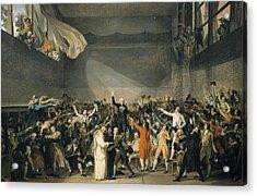 David, Jacques-louis 1748-1825. Oath Acrylic Print by Everett