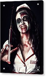 Dead Nurse Taking Blood Donation With Syringe Acrylic Print by Jorgo Photography - Wall Art Gallery
