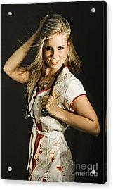 Dead Sexy Nurse Acrylic Print by Jorgo Photography - Wall Art Gallery