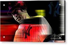 Derek Jeter Acrylic Print by Marvin Blaine