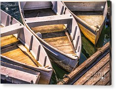 Dinghies Dockside Acrylic Print by Jerry Fornarotto