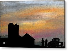 Discussing The State Of Things Acrylic Print by R Kyllo