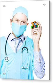 Doctor Problem Solving Medical Complications Acrylic Print by Jorgo Photography - Wall Art Gallery